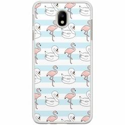 Samsung Galaxy J7 2017 hoesje - Flamingos x swans