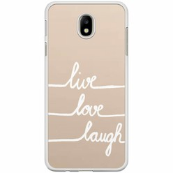Samsung Galaxy J7 2017 hoesje - Live, love, laugh