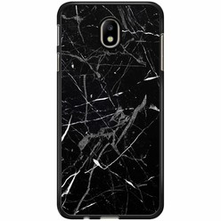 Samsung Galaxy J7 2017 hoesje - Marmer zwart