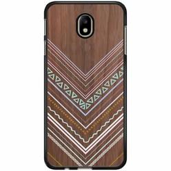 Samsung Galaxy J7 2017 hoesje - Wooden lines
