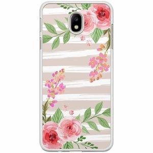 Samsung Galaxy J7 2017 hoesje - Blush pink rose