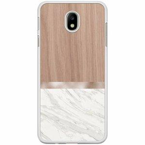 Samsung Galaxy J7 2017 hoesje - Marble wood