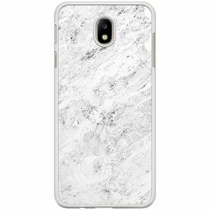 Samsung Galaxy J7 2017 hoesje - Marmer grijs
