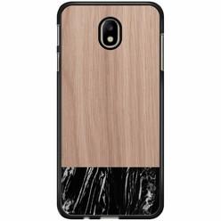 Samsung Galaxy J7 2017 hoesje - Marmer zwart wood