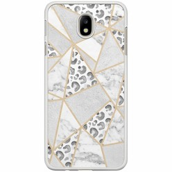 Casimoda Samsung Galaxy J7 2017 hoesje - Stone & leopard print