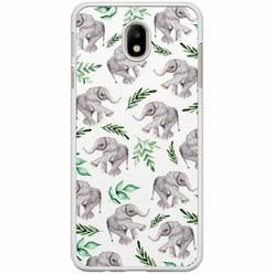 Samsung Galaxy J7 2017 hoesje - Floral olifantjes