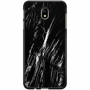 Samsung Galaxy J7 2017 hoesje - Black is my happy color (marmer)