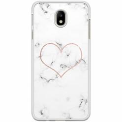 Casimoda Samsung Galaxy J7 2017 hoesje - Marmer hart