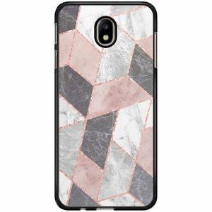 Samsung Galaxy J7 2017 hoesje - Stone grid