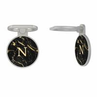 Ring houder met initialen - Marmer zwart goud