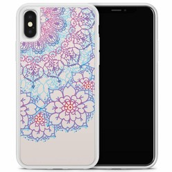 Casimoda iPhone X/XS hoesje - Red & blue floral