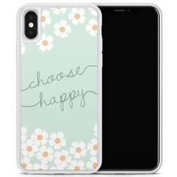 Casimoda iPhone X/XS hoesje - Choose happy