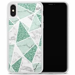 Casimoda iPhone X/XS hoesje - Marmer mint
