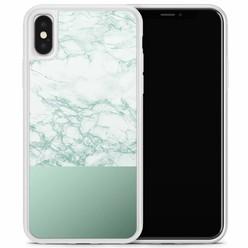 Casimoda iPhone X/XS hoesje - Minty marble