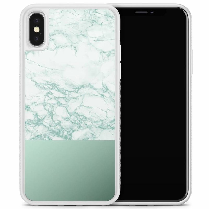 iPhone X/XS hoesje - Minty marble