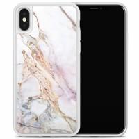 iPhone X/XS hoesje - Parelmoer marmer