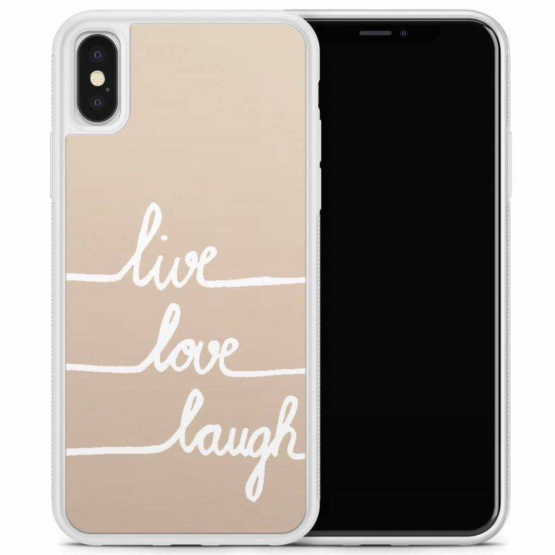 iPhone X/XS hoesje - Live, love, laugh