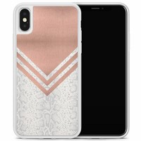 iPhone X/XS hoesje - Rose gold snake