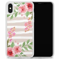 iPhone X/XS hoesje - Blush pink rose