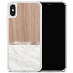 Casimoda iPhone X/XS hoesje - Marble wood