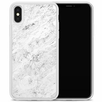 iPhone X/XS hoesje - Marmer grijs