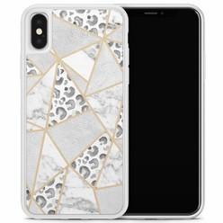 Casimoda iPhone X/XS hoesje - Stone & leopard print