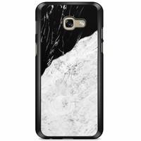 Samsung Galaxy A5 2017 hoesje - Marmer zwart grijs