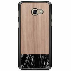 Samsung Galaxy A5 2017 hoesje - Marmer zwart wood