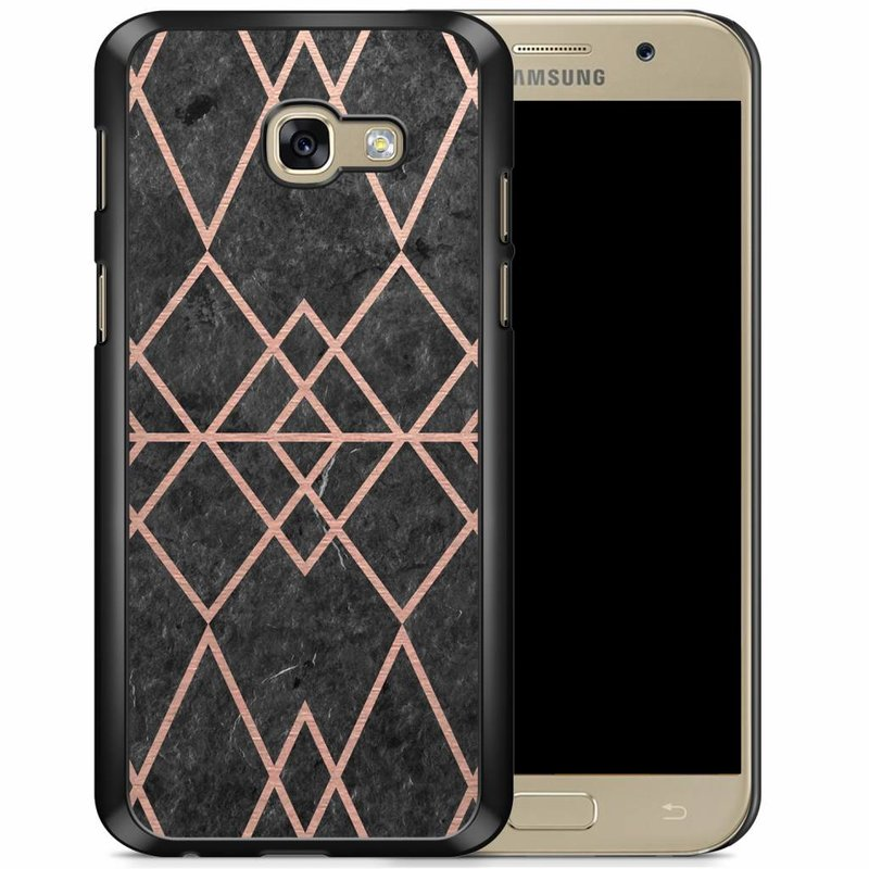 Samsung Galaxy A5 2017 hoesje - Abstract rose gold