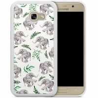 Samsung Galaxy A5 2017 hoesje - Floral olifantjes