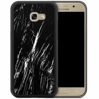 Samsung Galaxy A5 2017 hoesje - Black is my happy color (marmer)