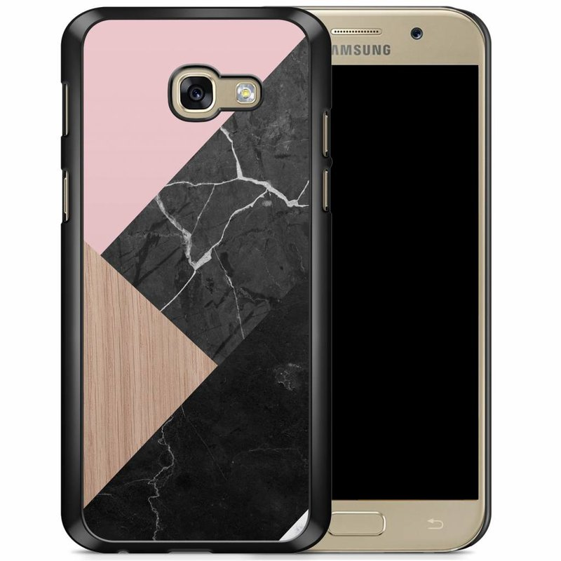 Samsung Galaxy A5 2017 hoesje - Marble wooden mix