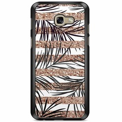 Samsung Galaxy A5 2017 hoesje - Rose gold leaves