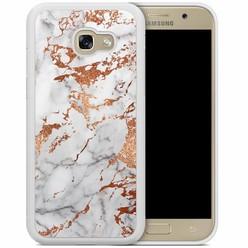 Casimoda Samsung Galaxy A5 2017 hoesje - Rose goud marmer