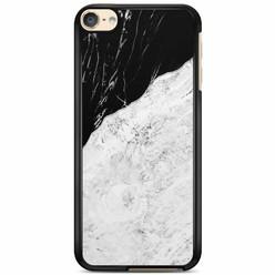 iPod touch 6 hoesje - Marmer zwart grijs