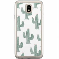 Casimoda Samsung Galaxy J3 2017 siliconen hoesje - Cactus print
