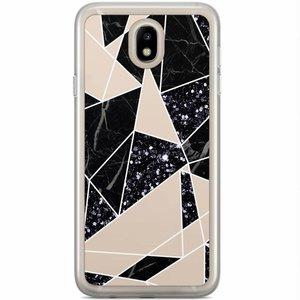 Casimoda Samsung Galaxy J3 2017 siliconen hoesje - Abstract painted