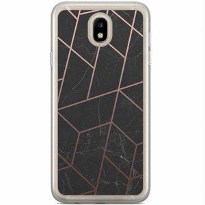 Casimoda Samsung Galaxy J3 2017 siliconen hoesje - Marble grid