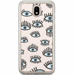 Casimoda Samsung Galaxy J3 2017 siliconen hoesje - Eyes on you