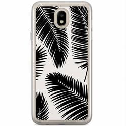 Casimoda Samsung Galaxy J3 2017 siliconen hoesje - Palm leaves silhouette