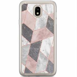 Casimoda Samsung Galaxy J3 2017 siliconen hoesje - Stone grid