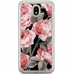 Casimoda Samsung Galaxy J3 2017 siliconen hoesje - Moody florals