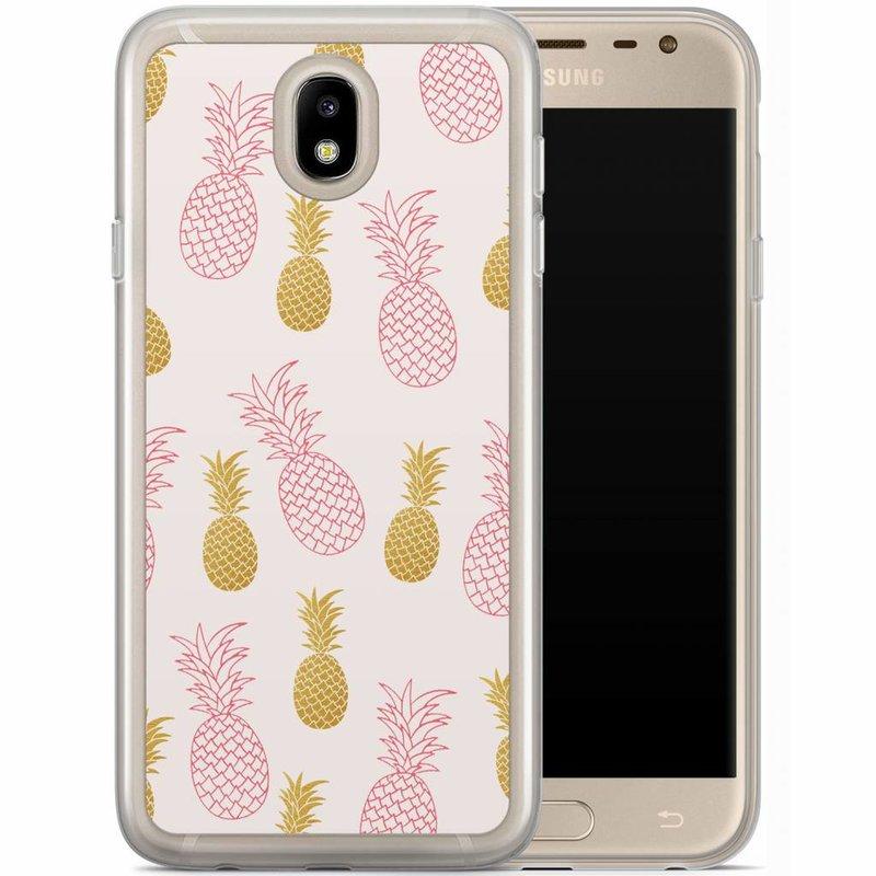 Casimoda Samsung Galaxy J3 2017 siliconen hoesje - Ananas print