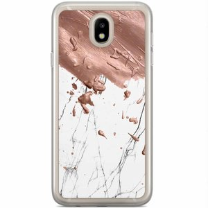 Casimoda Samsung Galaxy J5 2017 siliconen hoesje - Marble splash