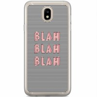 Casimoda Samsung Galaxy J5 2017 siliconen hoesje - Blah blah blah