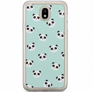 Samsung Galaxy J7 2017 siliconen hoesje - Panda print
