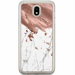 Casimoda Samsung Galaxy J7 2017 siliconen hoesje - Marble splash