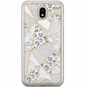 Samsung Galaxy J7 2017 siliconen hoesje - Stone & leopard print