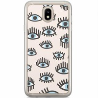 Casimoda Samsung Galaxy J7 2017 siliconen hoesje - Eyes on you