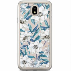 Casimoda Samsung Galaxy J7 2017 siliconen hoesje - Touch of flowers